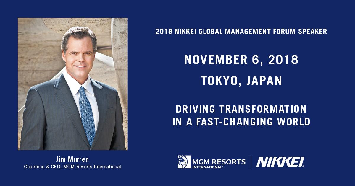 Jim Murren Nikkei Forum
