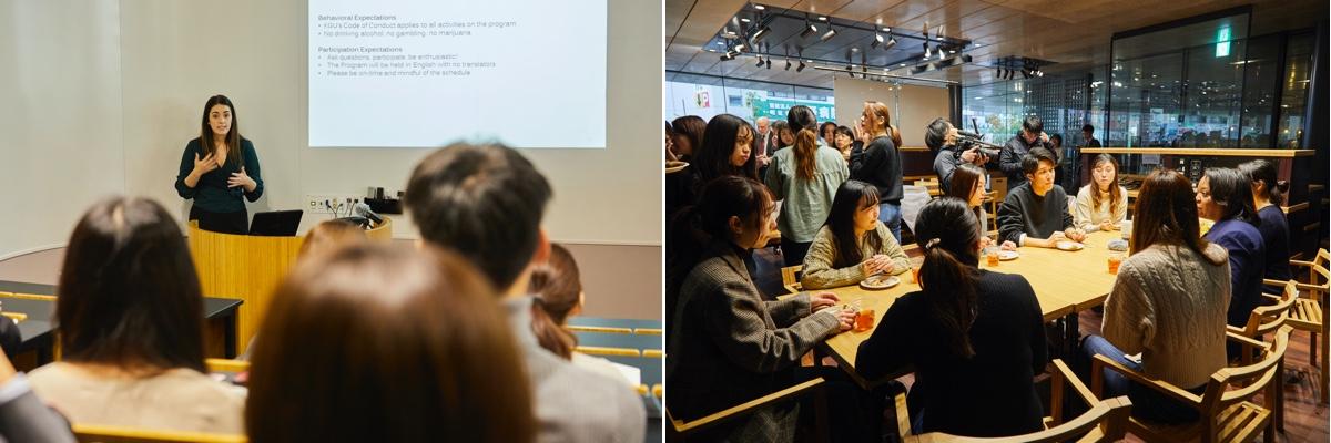 関西外国語大学内で実施されたオリエンテーションの様子